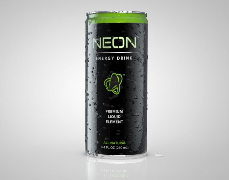 Neon packaging render
