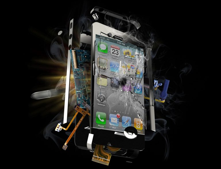 iPhone explosion render