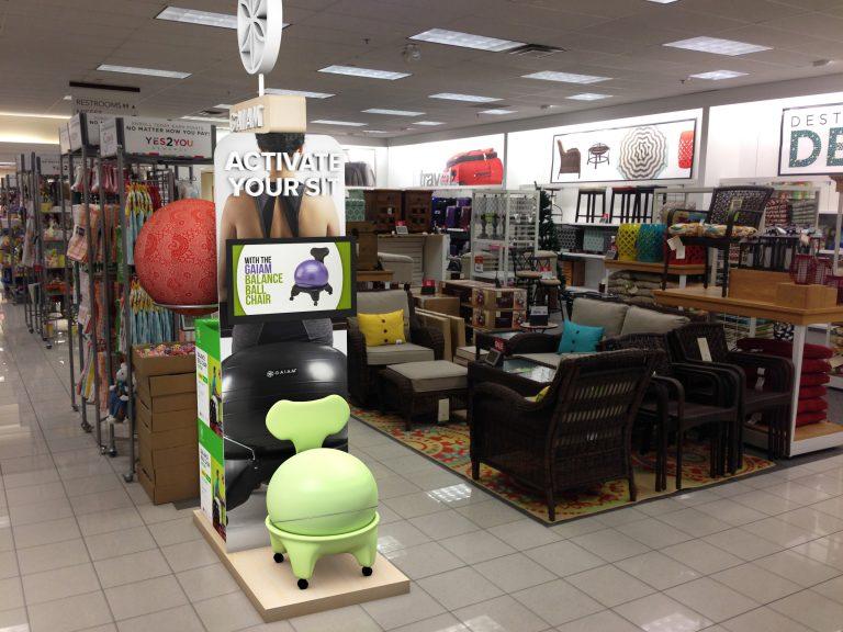 Gaiam display render for Kohl's Department Store