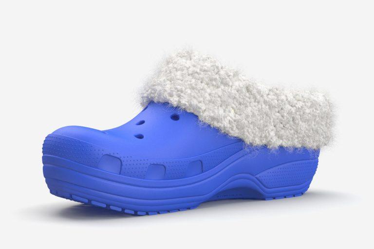 Crocs shoe with fur collar
